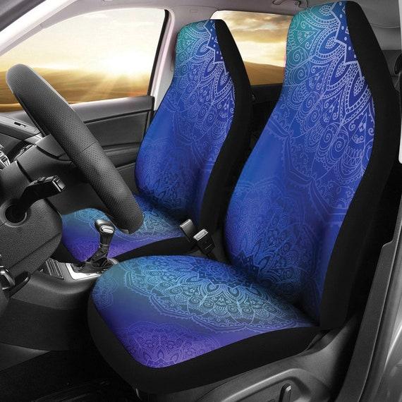 Blue Mandalas Car Seat Covers Pair, 2 Front Seat Covers, Car Seat Covers,  Car Seat Protector, Car Accessory, Mandalas, Blue