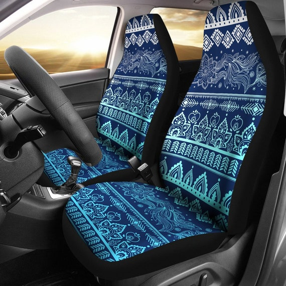 Boho Car Seat Covers Pair 2 Front