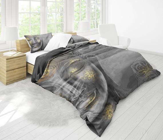 Duvet Cover Sets 3D Buddha Duvet Cover And Pillow Case Comforter Cover Unique Bedding Sets,6,EUKing240x220cm Buddha Bedding 3Piece