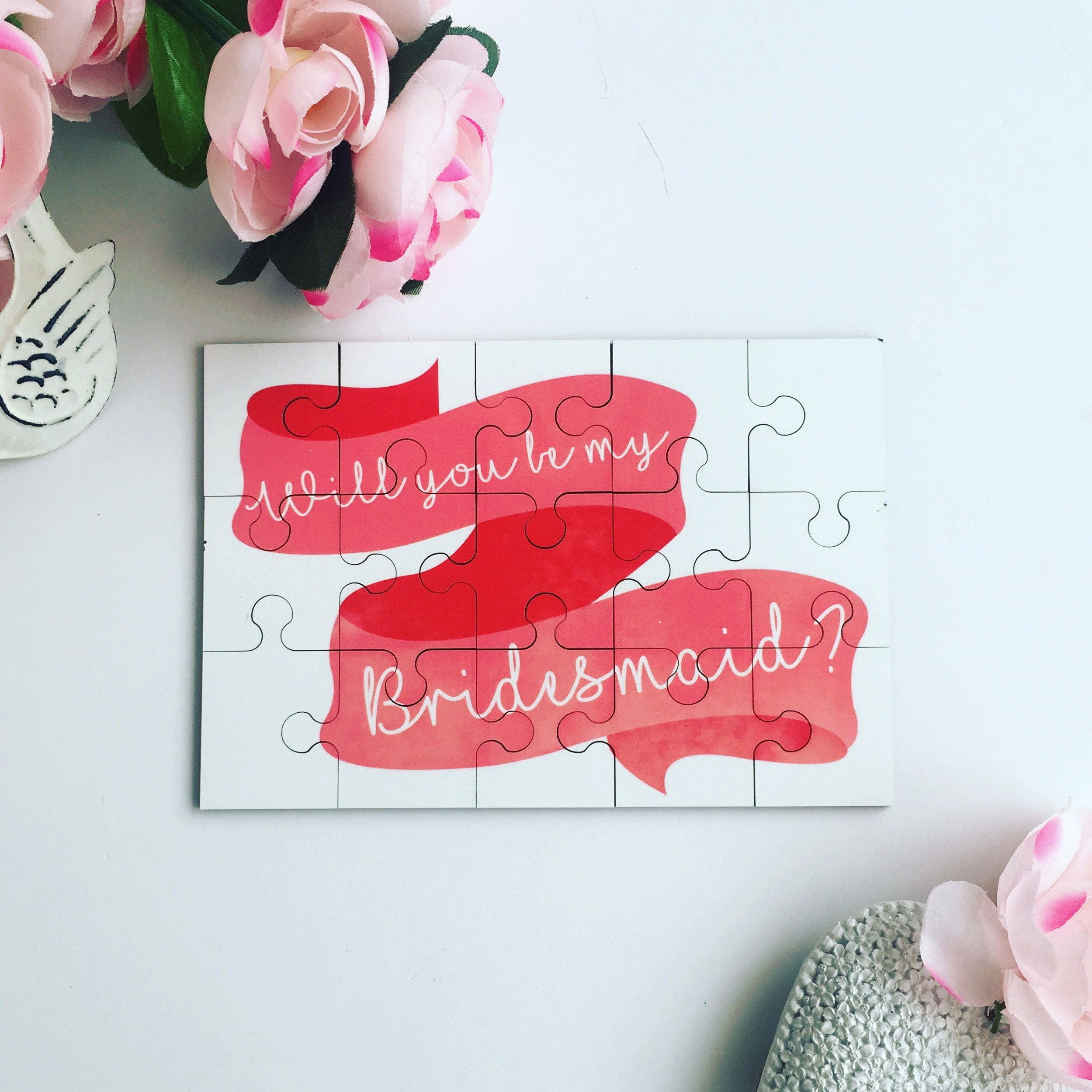 Will You Be My Bridesmaid Gift Personalised Puzzle