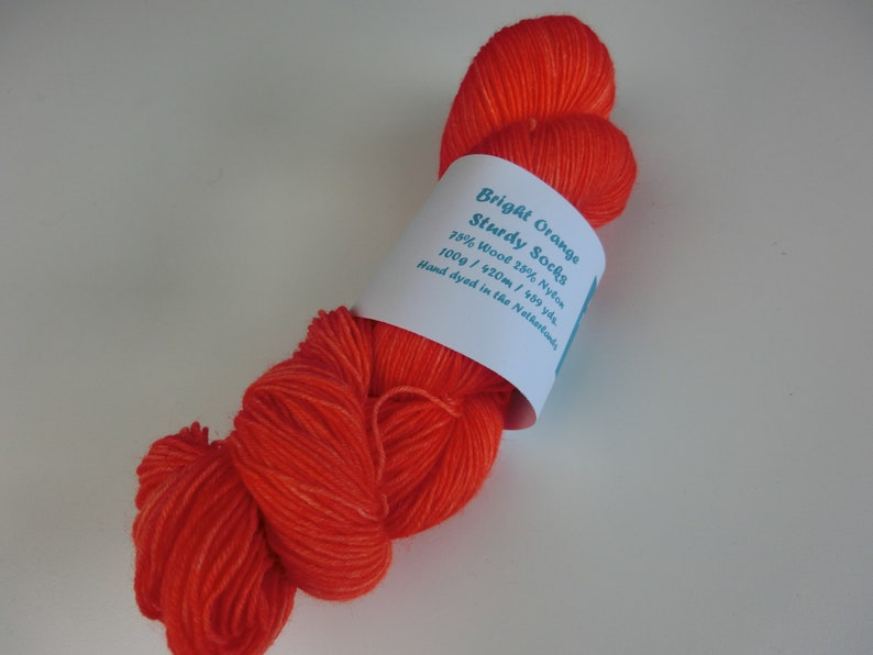 100g Sturdy Socks Yarn Bright Orange