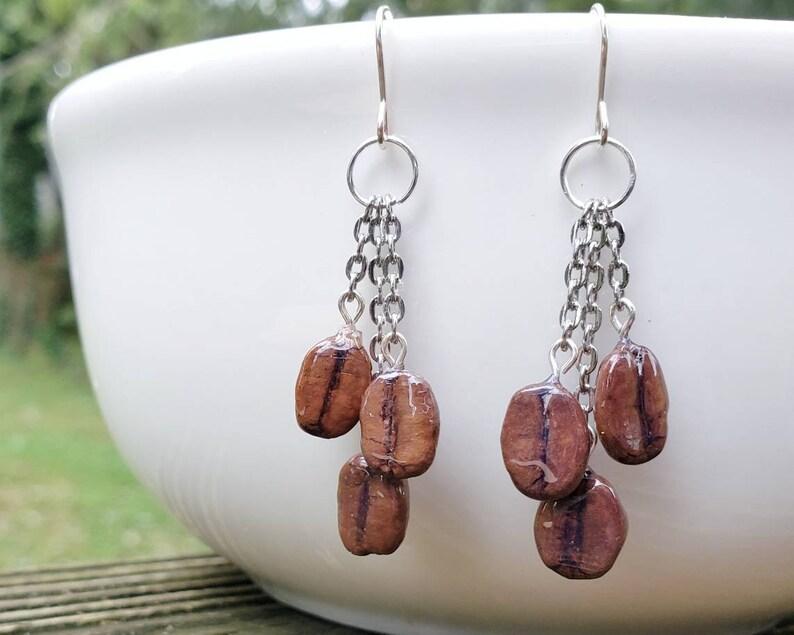 Coffee Bean Earrings image 0