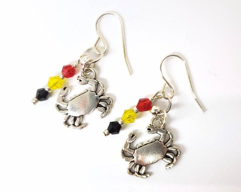 Maryland Crab Earrings image 0