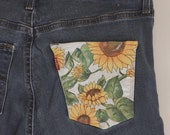 Sunflower Painted Jeans
