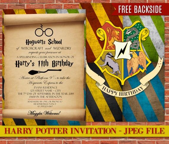 amazing harry potter birthday invitation template or 35 harry potter birthday invitation template free download