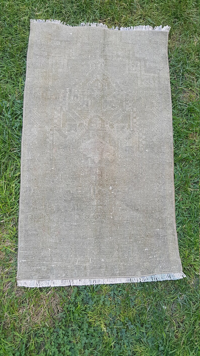 Vintage Small Mat Rug Entry Decor Rug Pillow Rug Area Rug image 0