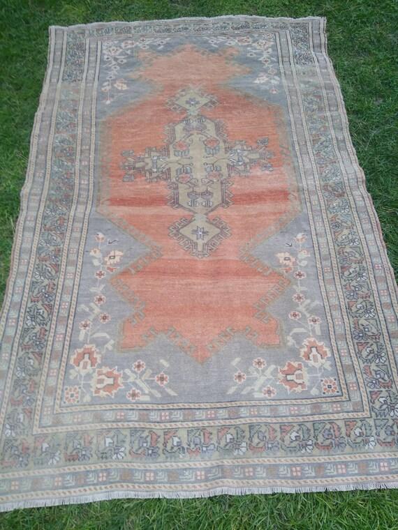 Boho Decor Wool Bordered Doormat Door Mat Carpet 1\u20196\u201dx3\u20190\u201d Ft Handmade Turkish Vintage Oushak Rugs Rugs 2x3 Throw Rug One-of-a-Kind