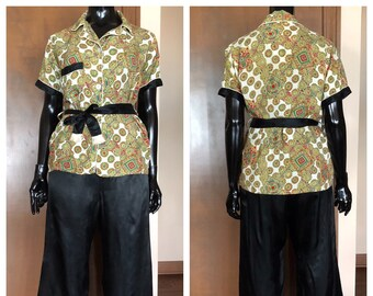 1940s Pajamas Rayon Satin Loungewear Set by Lady Berkleigh c62277dfc