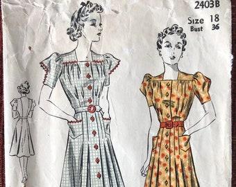 1930s Sewing Pattern DuBarry 2403B