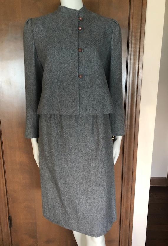 1970s Suit Evan-Picone Wool Skirt Suit