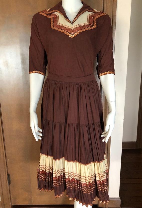 1950s Western Wear Patio Dress Set