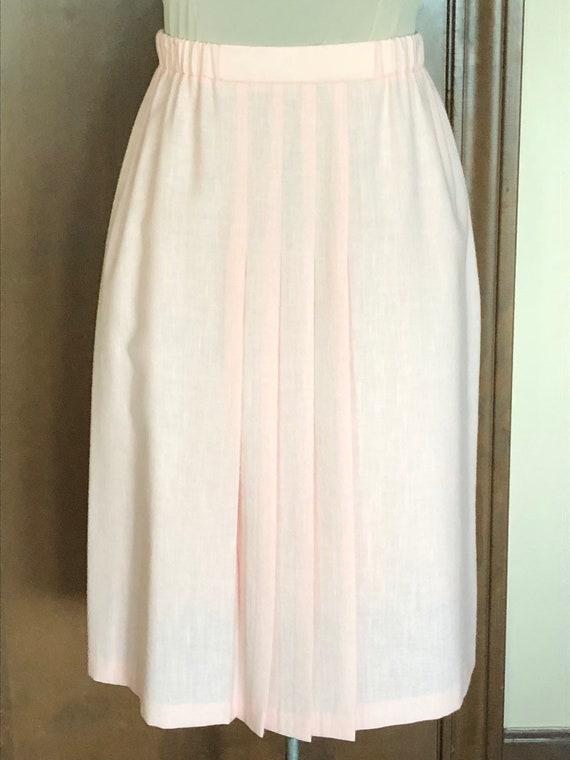 1980s Skirt Lightweight Linen Look Petal Pink