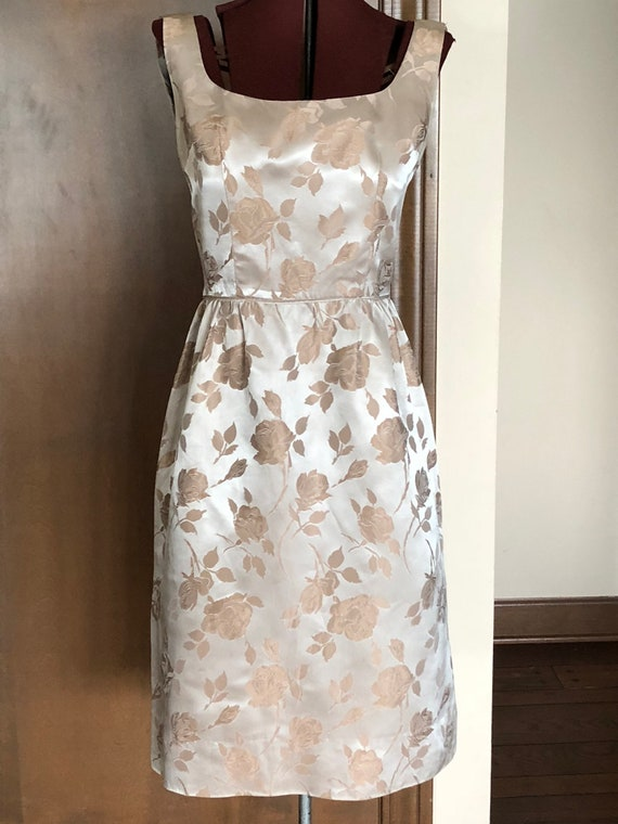 1950s Brocade Sheath Dress
