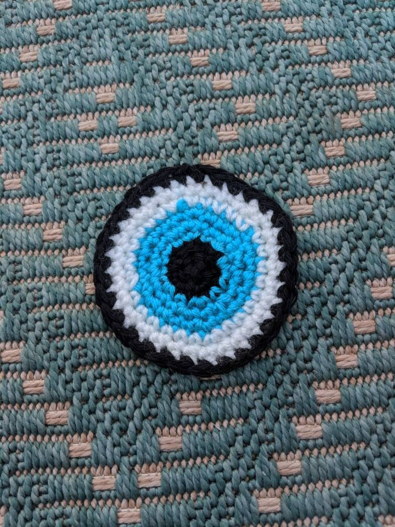 Evil Eye Crocheted Patches