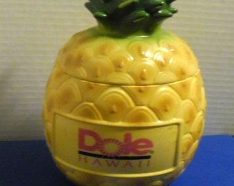 "Dole Hawaii Pineapple, Tropical Mug Cup Bank, 7"" tall, Vintage Advertising Souvenir"