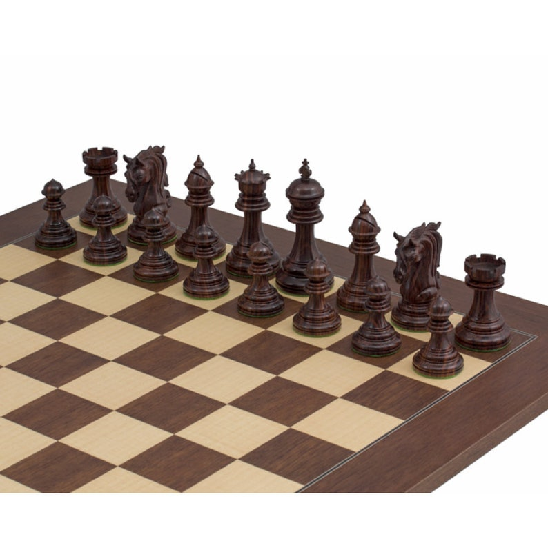 The Kingsgate Rosewood Chessmen 4.25 inch