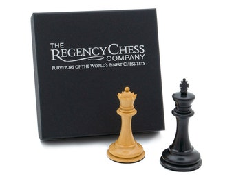 King and Queen Gift Set 3.5 inch in Ebony - Perfect for celebrations, weddings, anniversaries
