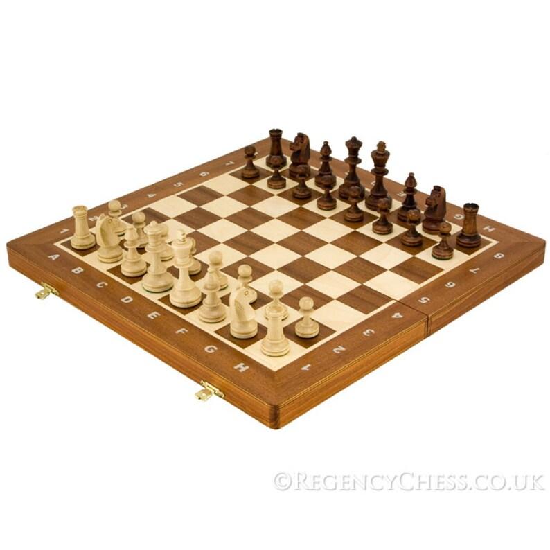 16 Inch Staunton Style Tournament Travel Chess Set