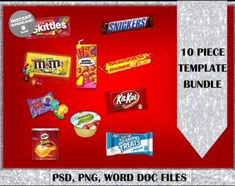 Party Favors Treats Kids parties Instant Download** 10pc Bundle Deal** Template