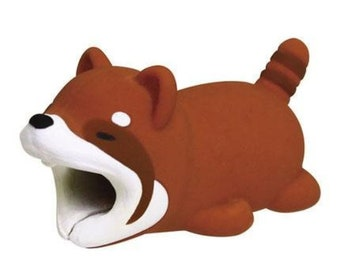 ec9abb24dc Red Panda Charger Cable Protector - Cable Bite / Cute / GIFT For Her / Him  / Boyfriend / Girlfriend
