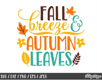 Autumn Breeze Svg Etsy