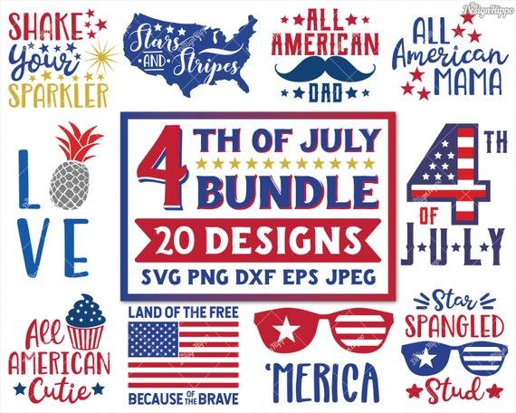 4th Of July Svg Bundle Patriotic Svg Fourth Of July Etsy