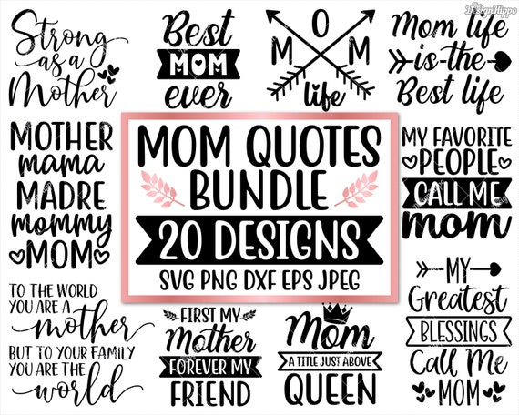 Mom svg bundle, Mom life svg, Quotes, Sayings, Gift, Sign, Funny, Southern  mom, Blessed mama, Mother\'s day, Design Files, Cricut, Silhouette