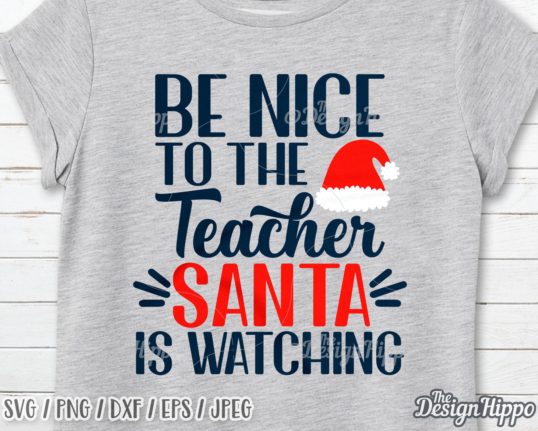 Tiffany Weihnachtsmotive.Werden Schön Der Lehrer Santa Ist Gerade Lehrer Weihnachts Svg Weihnachten Santa Svg Santa Hut Svg Svg Weihnachten Sprüche Svg Cricut Png