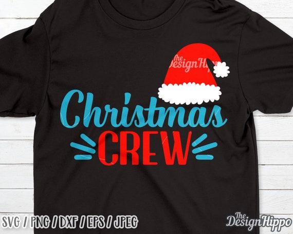 Christmas Crew Svg Santa Hat Svg Kids Christmas Svg Etsy