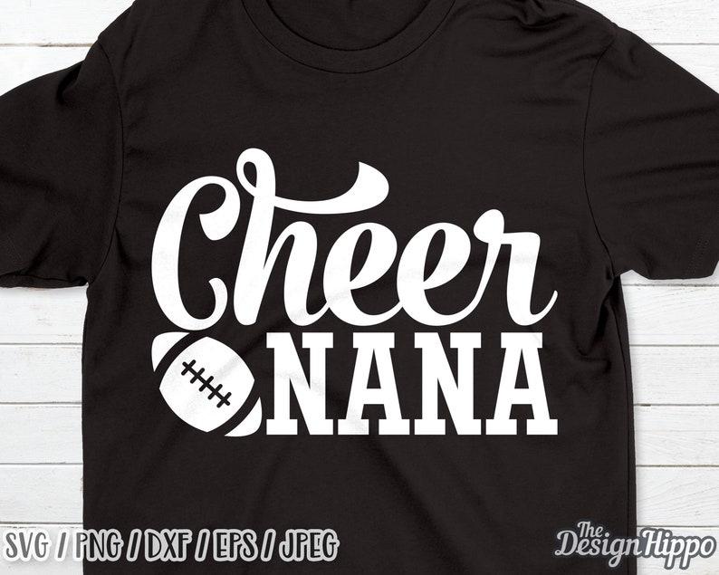 190e0123 Cheer nana svg Football nana svg Football svg Nana svg | Etsy
