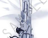 ffxiv gunblade body pillow case (full)