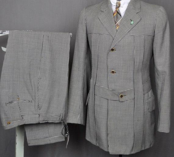 10s 20s Black & White SB Norfolk Suit - Teens Belt