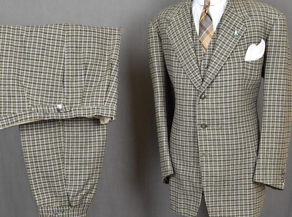 20s 30s Plaid SB 3pc Knickers Suit - Vintage Plus