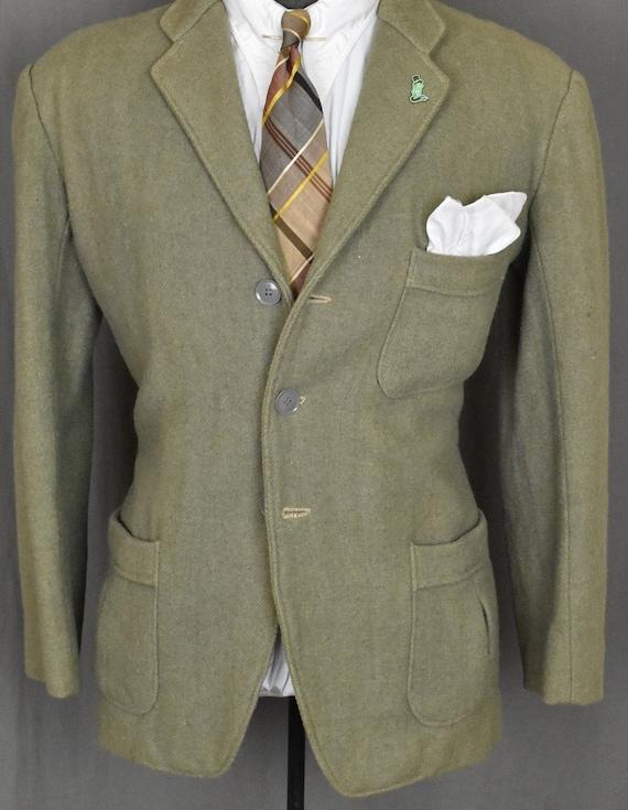 20s Tan SB Belted Back Suit Jacket - 30s Fancy Fre