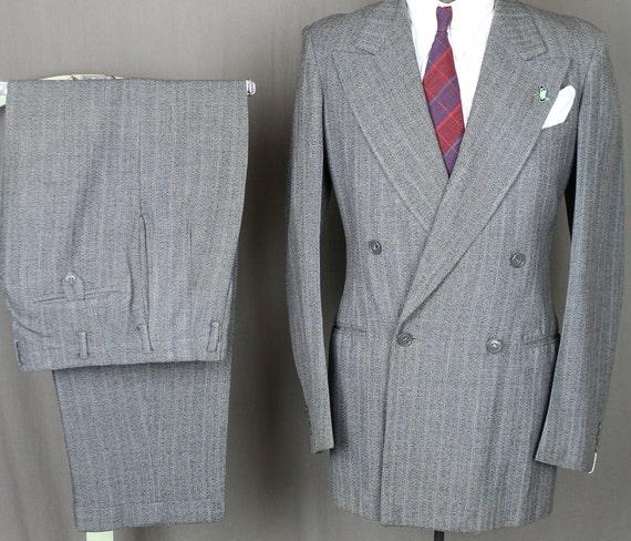 40s Gray DB Granite Clocth - 50s Fleck Tweed