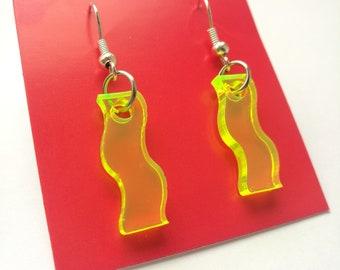 Neon Wiggle Earrings