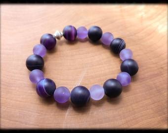 7cc544263 Amethyst 10mm bead bracelet!!