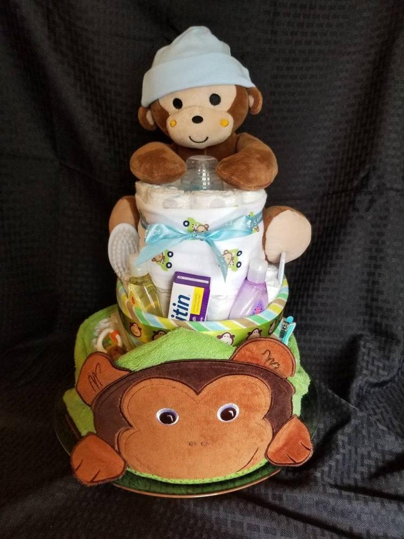 3e0728bbc8ba 3 Tier Diaper Cake Boys Girls Neutral New Baby Gift Twins Baby