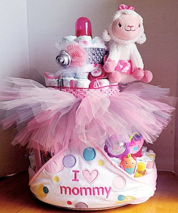 362e232be373 4 Tier Diaper Cake Boys Girls Neutral Twins Baby Shower Gift