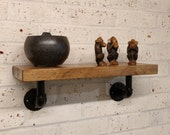 Rustic Shelf with Industrial Pipe Brackets
