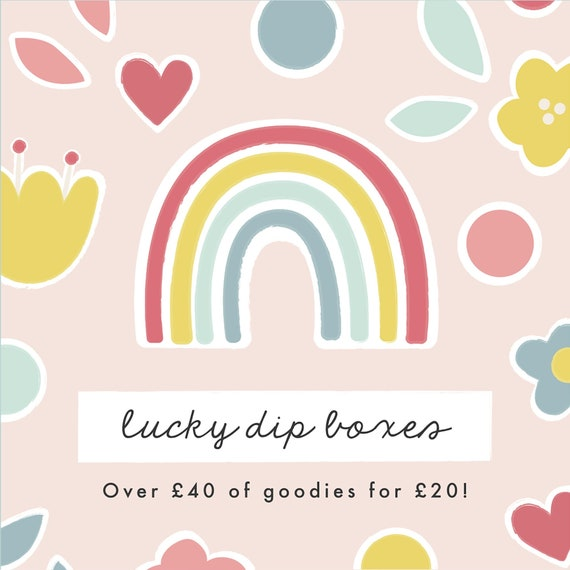 Lucky Dip box - Art prints - Greetings card - Mirror - Letterbox Gift in the UK - Lockdown gift - Thinking of You Gift - Pick me up gift
