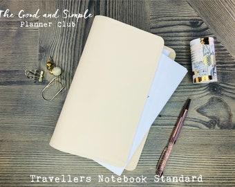 TN Standard Vegan Leather for 3-4 Notebooks VERSANDFERTIG Cream