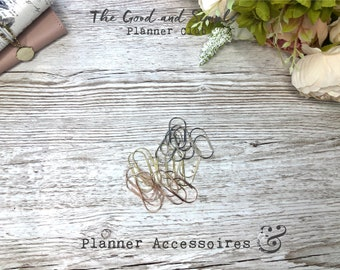 Planner Clip - Gold, Silver and Rose Gold in Two Sizes (5 pieces each)