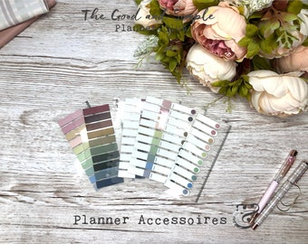 Page Flags - slightly transparent- dark or pastel and 3 designs to choose from