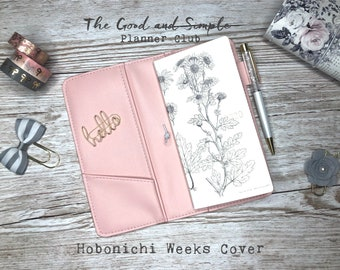Hobonichi Weeks Cover in vegan leather - various pinks and reds