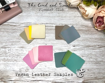 Vegan Leather Samples - Different Colors