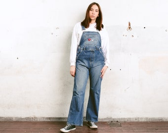 ee030d31f5c9b 90s Maternity Denim Overalls . Vintage Bib Overalls Oversized Jean Overall  Pants Wide Leg Dungarees Relaxed Overalls . size Small