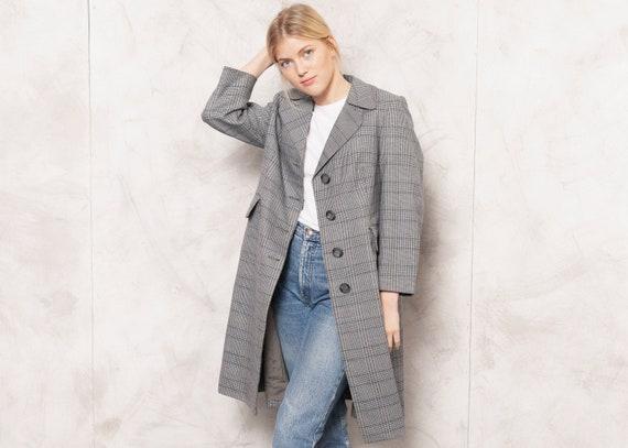 70s Checkered Coat Vintage 70s Women Plaid Coat Ov