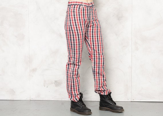 TED BAKER Pants 80s Checkered Nerd Pants Plaid Tr… - image 7