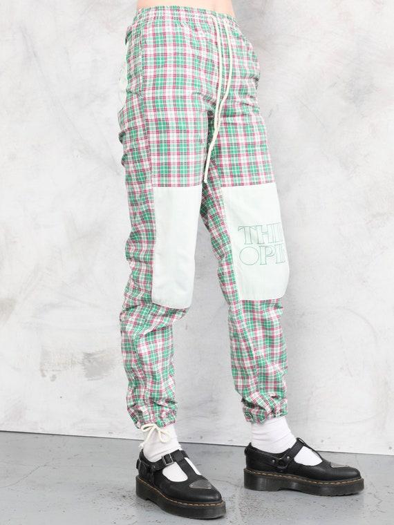 Plaid Summer Pants vintage 80s checkered artist p… - image 3